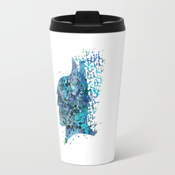 Bat Man Superhero Travel Mug
