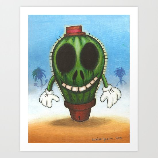 Cactus in freedom Art Print