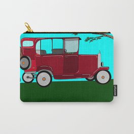 A Man and his Vintage Car Carry-All Pouch