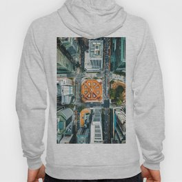 Aerial Cityscape View (Color) Hoody