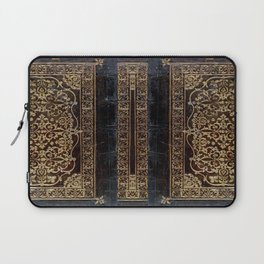 Gilded Leather Tome Laptop Sleeve