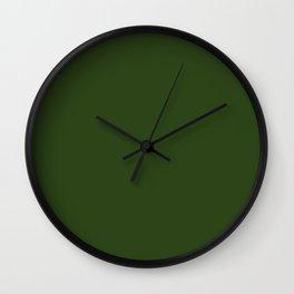Look Away Green Wall Clock