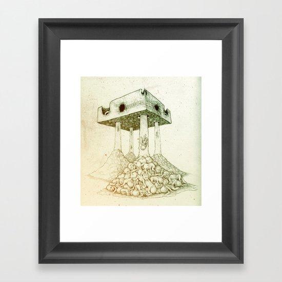 Baby Shit Framed Art Print
