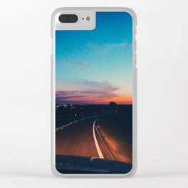 Waco Road Clear iPhone Case