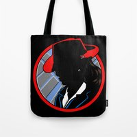 agent carter Tote Bags featuring Agent Carter by offbeatzombie