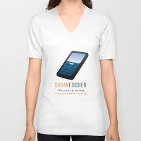 oitnb V-neck T-shirts featuring Fischer | OITNB by Sandi Panda