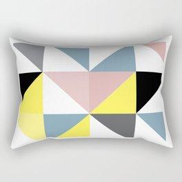 Triangle Scandinavian Art Rectangular Pillow
