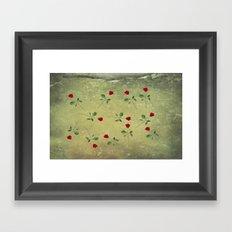 A Dozen Red Roses Framed Art Print