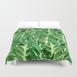 Holly Jolly Leaves (Large Pattern) Duvet Cover