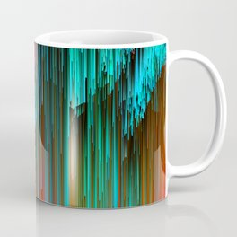 Nice Day for a Walk - Abstract Glitchy Pixel Art Coffee Mug