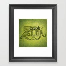 Legend of Zelda  Framed Art Print