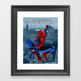 Amazing Spider-Man (Film Title) Framed Art Print