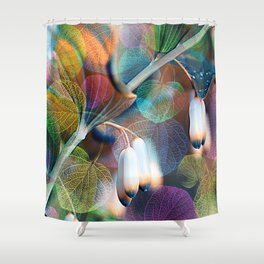 Floral abstract(48). Shower Curtain