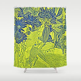 Flowers in pastel-yellow Shower Curtain