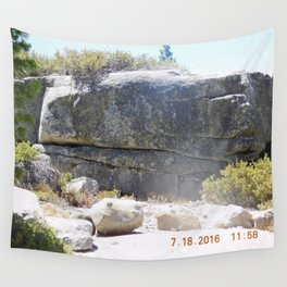 road trip, rock formation, hand, arm, pig hoof, split into each side Wall Tapestry