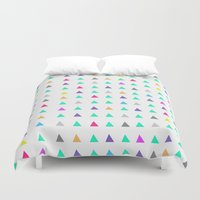 confetti Duvet Covers featuring Confetti by Leah Flores