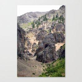 Gold Rush Prospect Hole High Above the Animas River Canvas Print