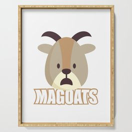 Magoats Funny Goat Herbivore Mammals Wildlife Animal Nature Gift Serving Tray