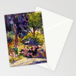 Henri Edmond Cross - The Flowered Terrace - Digital Remastered Edition Stationery Cards