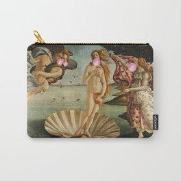 """Botticelli's Bubble Gum Contest The Birth of Venus """"renaissance"""" pop art painting Carry-All Pouch"""