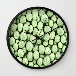Green Pea Pills Pattern Mix Wall Clock