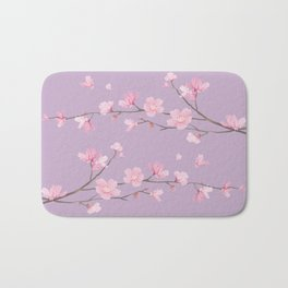 Cherry Blossom - Pale Purple Bath Mat
