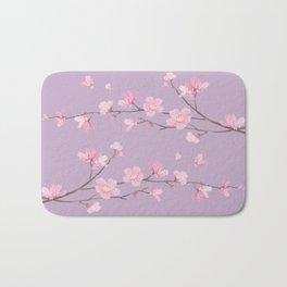Cherry Blossom - Pale Purple Bath Mat