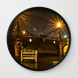 Night on the Moltke-Bridge in Berlin Wall Clock