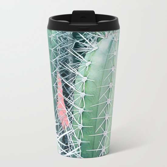 Cactus Up Close #society6 #decor #buyart Metal Travel Mug