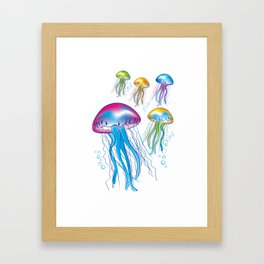 jellyfishes interior design by Crearinery Framed Art Print