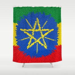 Flag of Ethiopia - Extruded Shower Curtain