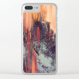 Night and Day: pretty abstract piece in orange, purple, and blues Clear iPhone Case