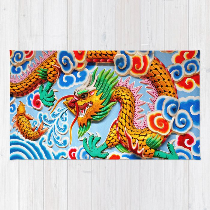 Chinese Temple Wall Art Rug by iangledhill | Society6