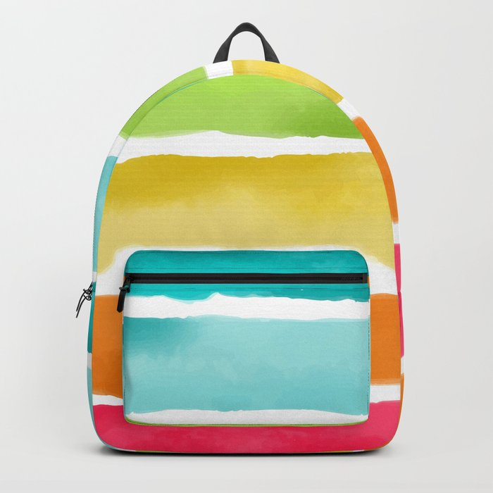 Watercolor Stripes Backpack