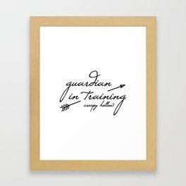 Guardian in Training Framed Art Print