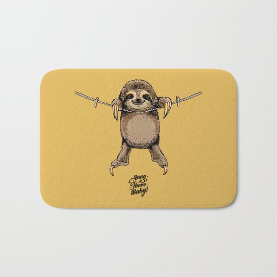 Hang in There Baby Sloth Bath Mat