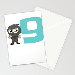 Birthday Ninja Party 9th Samurai Ninjas Gift Japanese Ninja stars Fighter Gift Stationery Cards