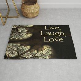 LIVE, LAUGH, LOVE Inspirational Design Rug