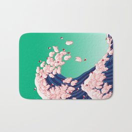 Christmas Baby Pigs The Great Wave Bath Mat