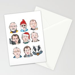 The many faces of Bill Murary Stationery Cards
