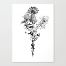 Glitch thistle Canvas Print