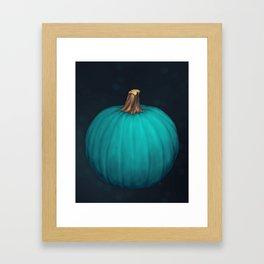 Teal Pumpkin Framed Art Print