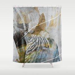 Iris_01c Shower Curtain