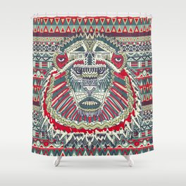 tribal lion Shower Curtain