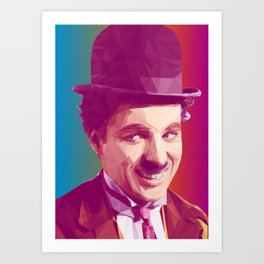 Charles Chaplin Low Poly Collection Art Print