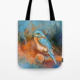 A Splash Of Bluebird Tote Bag