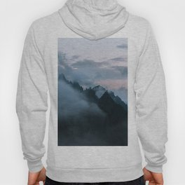 Dolomite Mountains Sunset covered in Clouds - Landscape Photography Hoody