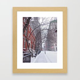 Snow Streets, Washington Square North Framed Art Print