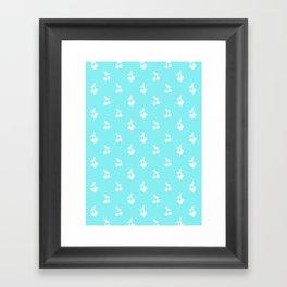 Blue cherries Framed Art Print