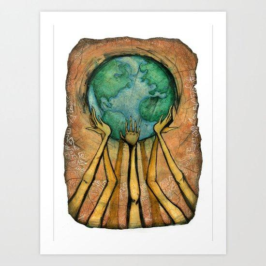 """""""Shake Up the World"""" Art Print"""
